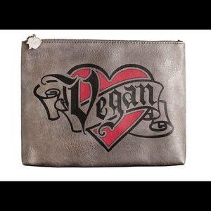 Kat Von D Large Makeup Vegan Bag Pewter New